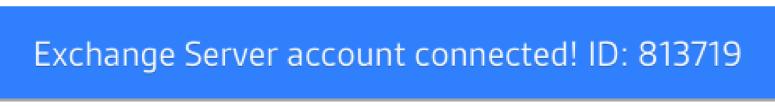 Exchange Server Account Connected
