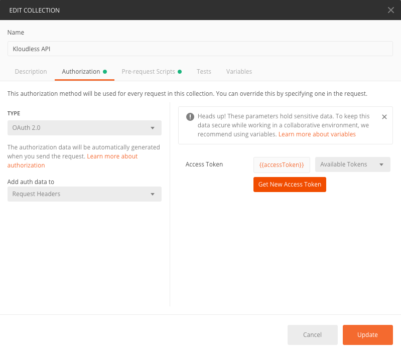 Kloudless API