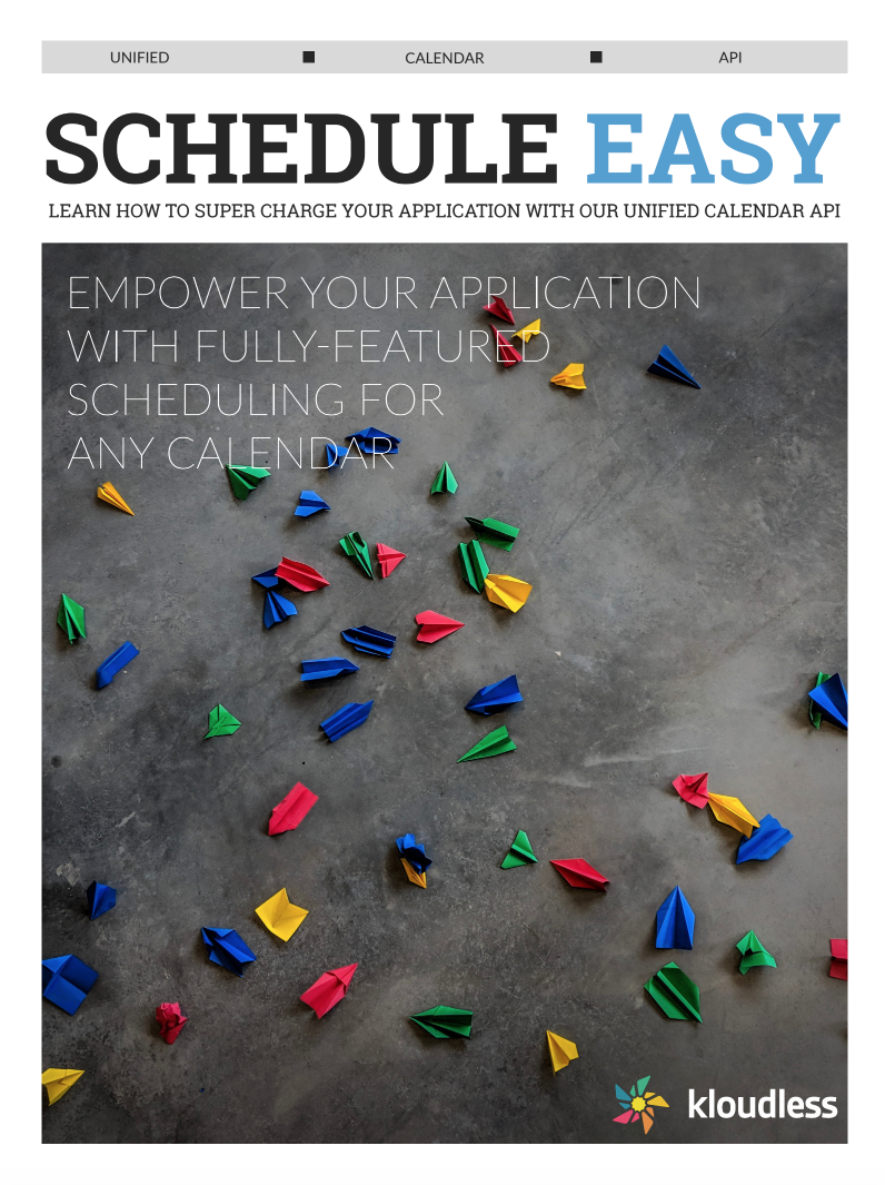 Schedule Easy: Our Unified Calendar API eBook is Available